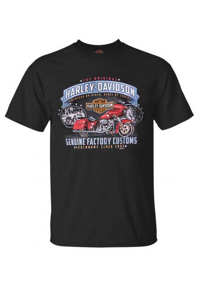 Harley-Davidson Hommes Original Customs All-Cotton manches courtes T-Shirt - Noir 30298734