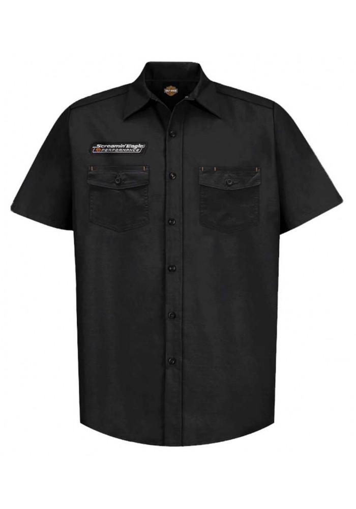 Harley-Davidson Hommes Screamin' Eagle Vintage Fashion manches courtes Shirt Noir ST79BKO