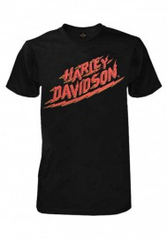 Harley-Davidson Hommes Lightning Strikes Crew manches courtes T-Shirt - Noir 30292295