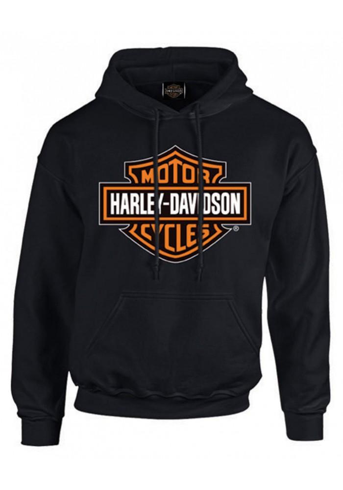 Harley-Davidson Hommes Bar & Shield Pullover Fleece à capuche Sweatshirt  Noir 30293965