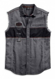 Harley-Davidson Hommes Iron Block Sleeveless Blowout Shirt  Noir 99019-17VM