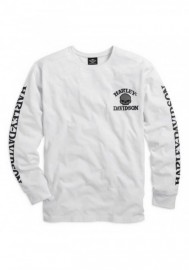 Harley-Davidson Hommes Willie G. Skull manches longues Tee Shirt White 99092-14VM