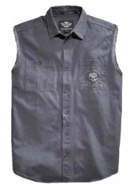 Harley-Davidson Hommes Willie G Skull Sleeveless Blowout Shirt  Gray 99029-17VM