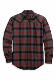 Harley-Davidson Hommes Herringbone manches longues Plaid Woven Shirt 96122-20VM