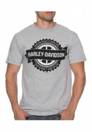 Harley-Davidson Hommes Noble Turn manches courtes col rond T-Shirt Athletic Gray 30297424
