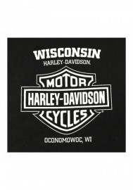 Harley-Davidson Hommes Distressed Wave All-Cotton manches courtes T-Shirt Noir 30297431