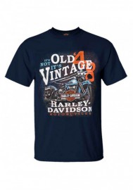 Harley-Davidson Hommes It's Vintage H-D col rond manches courtes T-Shirt - Navy 30298730