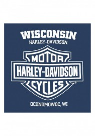 Harley-Davidson Hommes Go Faster H-D col rond manches courtes T-Shirt - Navy 30292384