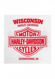 Harley-Davidson Hommes Stars & Shield Chest Pocket manches courtes T-Shirt - White 30292411