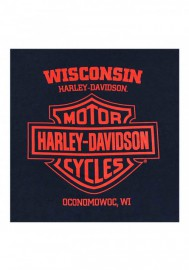 Harley-Davidson Hommes Take Over H-D Chest Pocket manches courtes T-Shirt - Navy 30298752