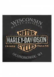 Harley-Davidson Hommes Masterpiece Tank manches courtes col rond T-Shirt Gray R002442