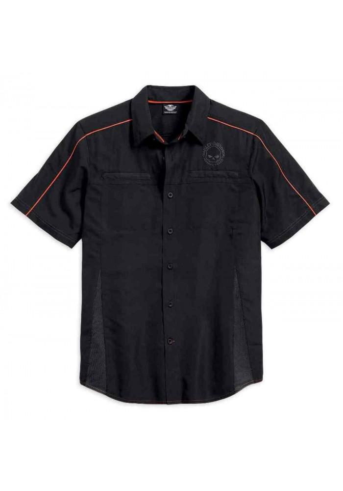 Harley-Davidson Hommes Shirt  Vented Performance Willie G Skull  Noir 99034-15VM