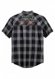 Harley-Davidson Hommes H-D Racing Performance Stay Cool Plaid Shirt 99164-19VM