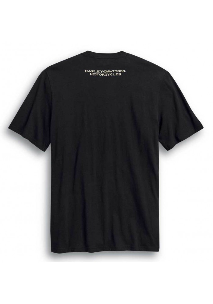 Harley-Davidson Hommes Ride Free manches courtes col rond T-Shirt  Noir 99024-20VM