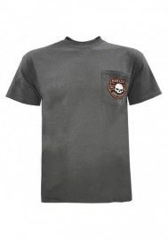 Harley-Davidson Hommes Wille G Skull Chest Pocket manches courtes Tee Shirt Charcoal Gray 30292319