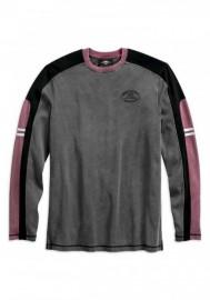 Harley-Davidson Hommes Colorblocked manches longues Tee Shirt - Asphalt 99159-19VM