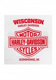 Harley-Davidson Hommes RWB Bar & Shield manches longues col rond Shirt - White 30298765