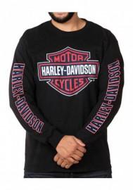 Harley-Davidson Hommes RWB Bar & Shield manches longues col rond Shirt - Noir 30298764