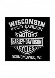 Harley-Davidson Hommes Willie G Skull Sweatshirt Noir Crew Pullover 30296649