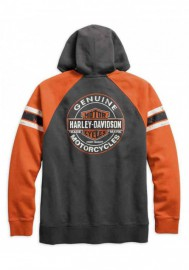 Harley-Davidson Hommes Genuine Oil Can Zippered Sweat à capuche Asphalt 99065-18VM