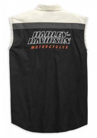 Harley-Davidson Hommes H-D Racing Blowout Sleeveless Shirt Noir 99168-19VM