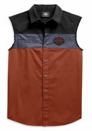 Harley-Davidson Hommes Copperblock B&S Sleeveless Blowout Shirt 99079-20VM
