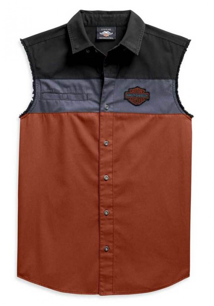 Harley-Davidson Hommes Copperblock B&S Sleeveless Blowout Shirt 99079-20VM