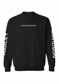 Harley-Davidson Hommes Hyphen col rond Pullover Sweatshirt - Noir 96487-20VM
