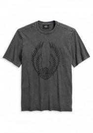 Harley-Davidson Hommes Winged Logo manches courtes T-Shirt Asphalt 96140-20VM