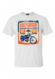 Harley-Davidson Hommes Vintage Track manches courtes col rond T-Shirt White 30297420