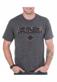 Harley-Davidson Hommes Cruiser H-D manches courtes col rond T-Shirt Charcoal Gray 30298616