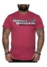 Harley-Davidson Hommes Classic Style Poly-Blend manches courtes T-Shirt Heather Red 30292381