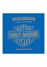 Harley-Davidson Hommes Nitro Racing manches longues col rond Cotton Shirt - Royal 30292420
