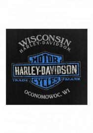 Harley-Davidson Hommes Burning Eagle col rond manches courtes T-Shirt - Noir R002704