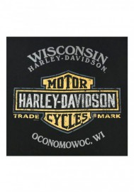 Harley-Davidson Hommes Born Ride Neon manches courtes col rond T-Shirt Noir R002596