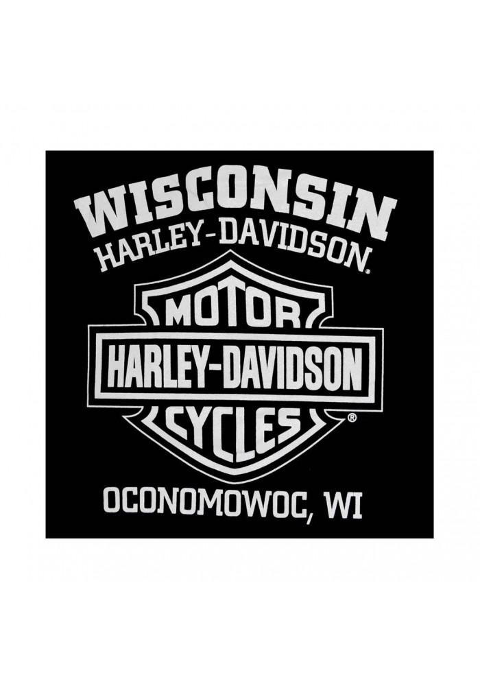 Harley-Davidson Hommes Zippered Sweatshirt Jacket Willie G Skull Noir 30296647