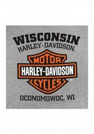 Harley-Davidson Hommes Sweatshirt Willie G Skull Gray Sweat à capuche 30296654