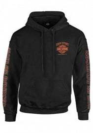 Harley-Davidson Hommes Eagle Piston manches longues Pullover Sweat à capuche Noir 30299949