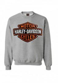 Harley-Davidson Mens Bar & Shield manches longues col rond Fleece Sweatshirt Gray 30293968