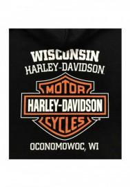 Harley-Davidson Hommes Bar & Shield Logo Pullover Sweat à capuche - Noir 30297503