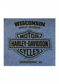 Harley-Davidson Hommes Legend Has It Tri-Blend manches courtes Shirt Vintage Royal 30297440
