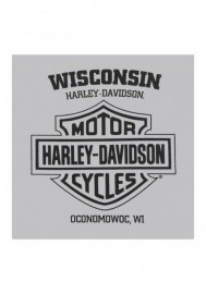 Harley-Davidson Hommes Rumble Defenders manches courtes col rond T-Shirt Silver 30297439