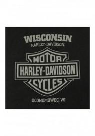 Harley-Davidson Hommes Distressed Journeyman Chest Pocket manches courtes Tee Shirt Noir 30297453
