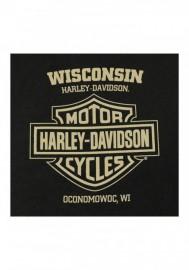 Harley-Davidson Hommes H-D Sign Pullover Fleece Poly-Blend Sweatshirt - Noir 30297462