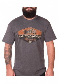 Harley-Davidson Hommes Great Humility manches courtes Poly-Blend T-Shirt Charcoal 30298716