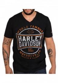 Harley-Davidson Hommes Distressed Imperial Asphalt V-Neck manches courtes T-Shirt 30298721