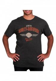 Harley-Davidson Hommes Timeless Distressed manches courtes T-Shirt Vintage Noir 30294656