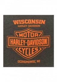 Harley-Davidson Hommes Ravenous B&S Eagle Tri-Blend manches courtes T-Shirt Brown 30292397