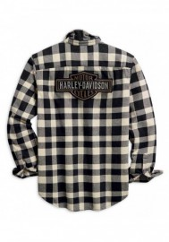 Harley-Davidson Hommes Buffalo Plaid Button Front manches longues Shirt 96010-20VM