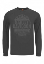 Harley-Davidson Hommes Affiliate H-D Tonal manches longues col rond T-Shirt Gray 30297809
